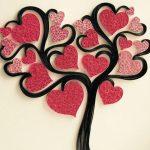 Фото 74: Дерево из сердечек в технике квиллинг
