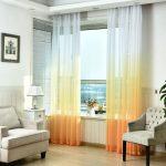 Фото 44: Градиентные полупрозрачные шторы