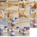 Фото 36: Изготовление куколки - масленицы из соломы