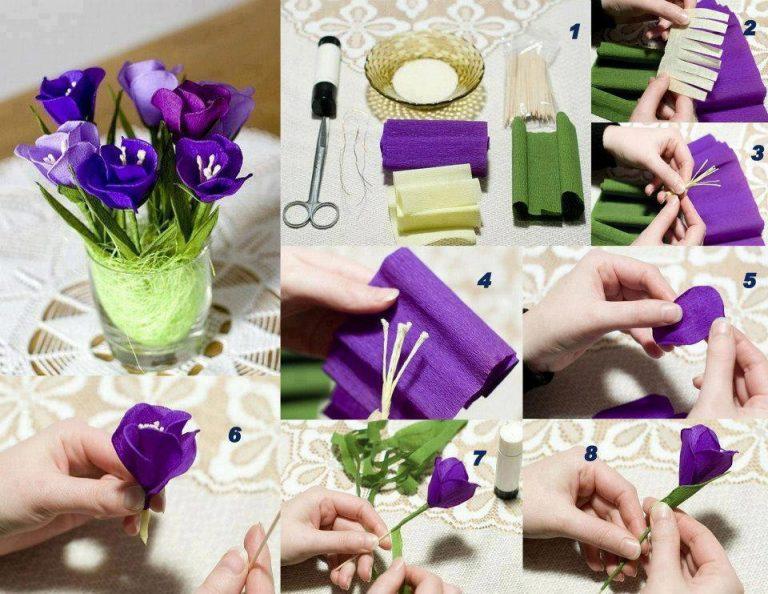 Мк по созданию цветов из гофрированной бумаги