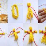 Фото 41: Изготовление куклы масленицы из пряжи