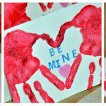 Фото 54: Валентинка с отпечатками ладоней