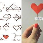 Фото 92: Валентинка на палочке-оригами