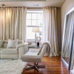 Фото 58: Натуральные шторы в гостиной