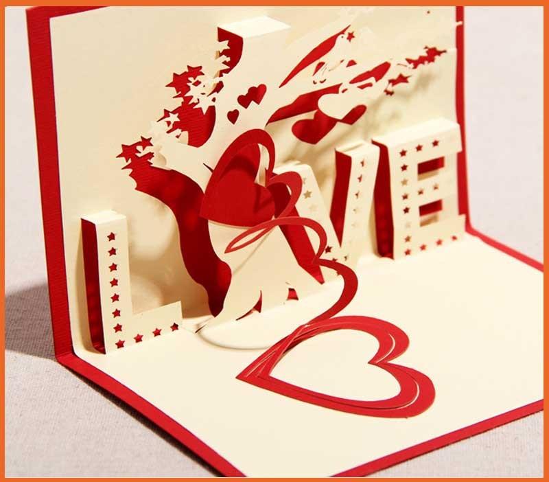 Объемная открытка-валентинка