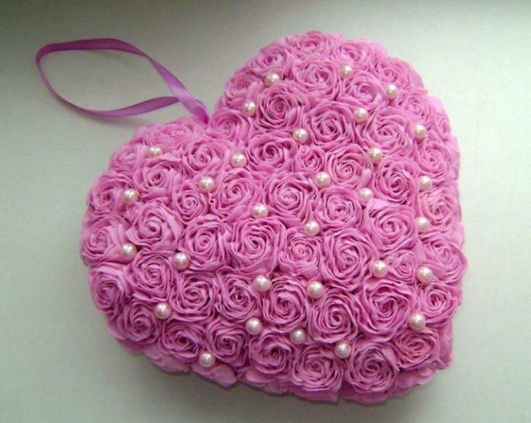 Объёмное сердце из салфеток своими руками 44
