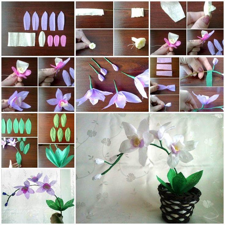Орхидея своими руками из 87