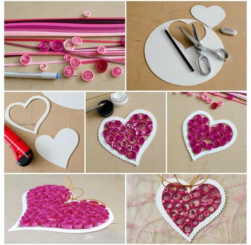 Изготовление сердечка в технике квиллинг