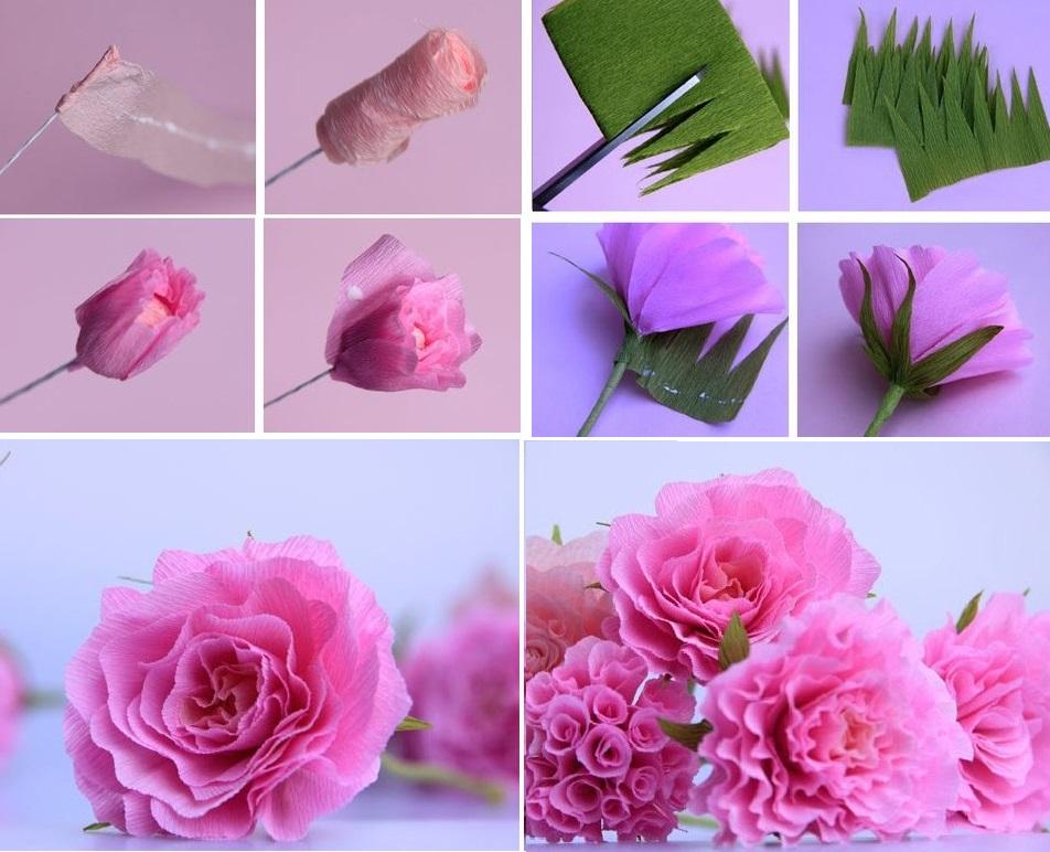 Изготовление розы из гофрированной бумаги