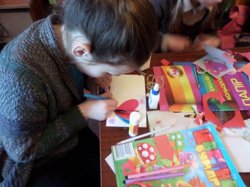 Изготовление валентинок с детьми