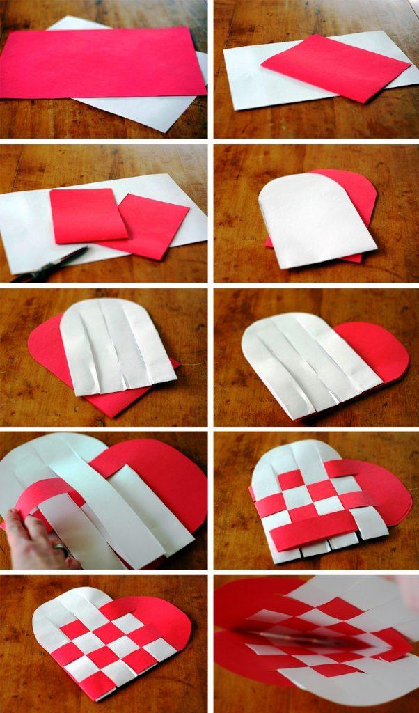Изготовление плетеного сердца
