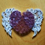 Фото 76: Сердце с крыльями в технике квиллинг