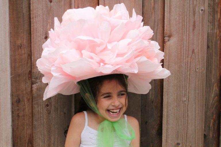 Костюм цветок для девочки своими руками