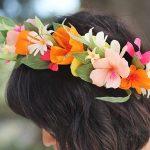 Фото 64: Венок из цветов из гофрированной бумаги