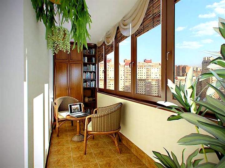 Интерьеры балконов и лоджий