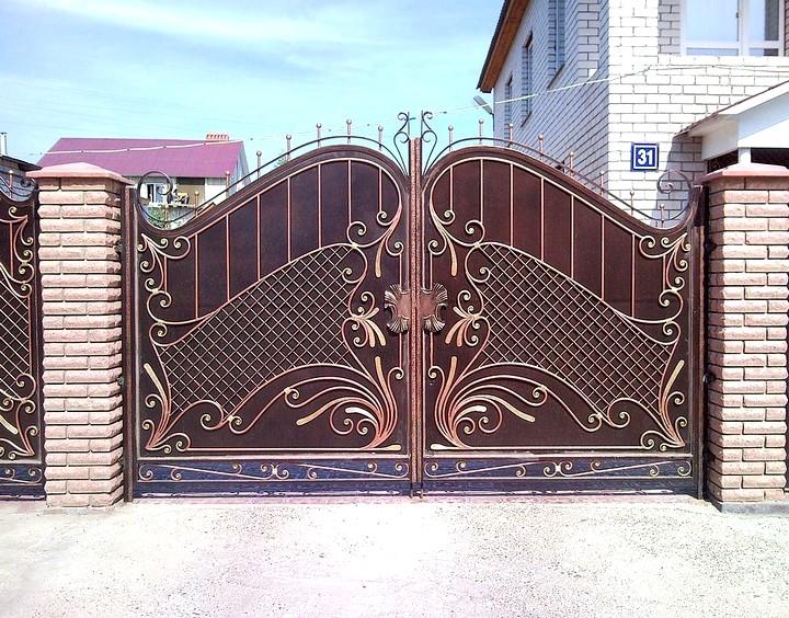 Кованые ворота и калитки модные стили (2)