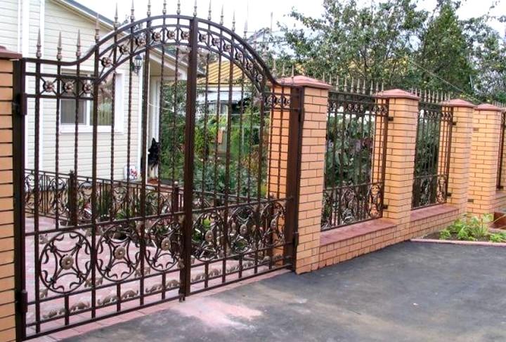 Кованые ворота и калитки (2)