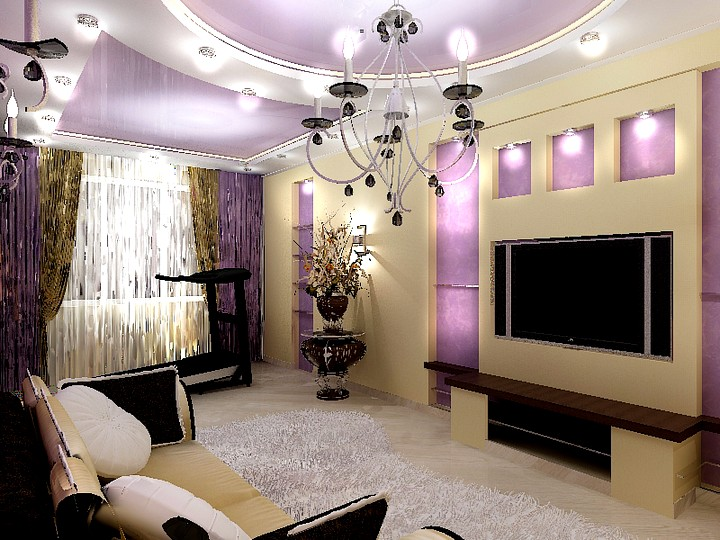 Освещение и цветовая гамма для маленьких гостиных2