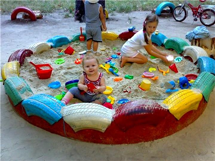 Размер песочница на даче своими руками