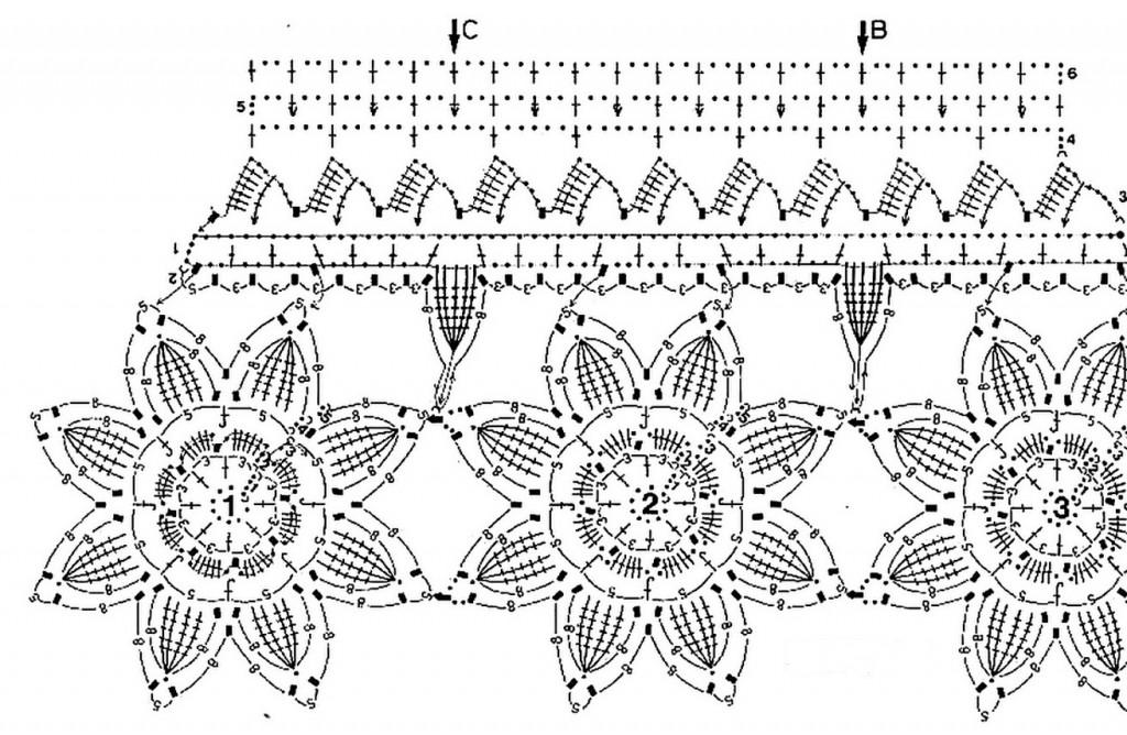 Цветы для ажурного кружева