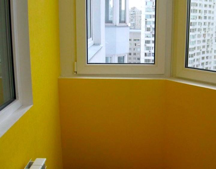 отделка балкона гипсокартоном 2