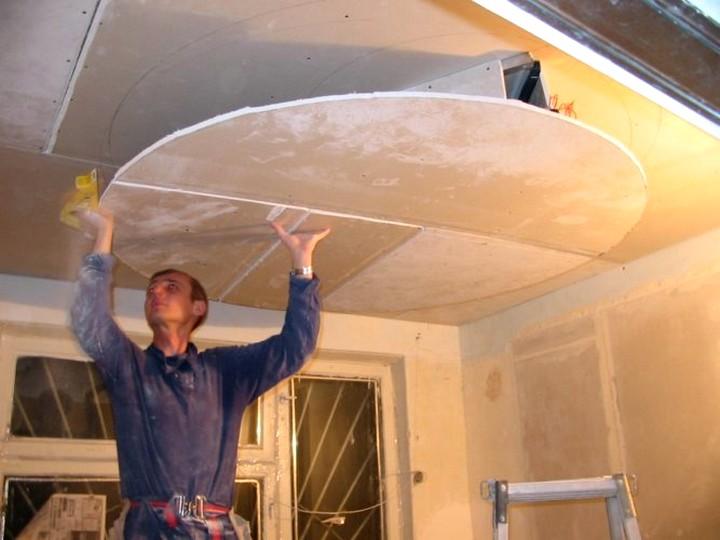 потолки из гипсокартона монтаж (2)