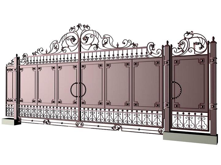 самостоятельное изготовление кованых ворот
