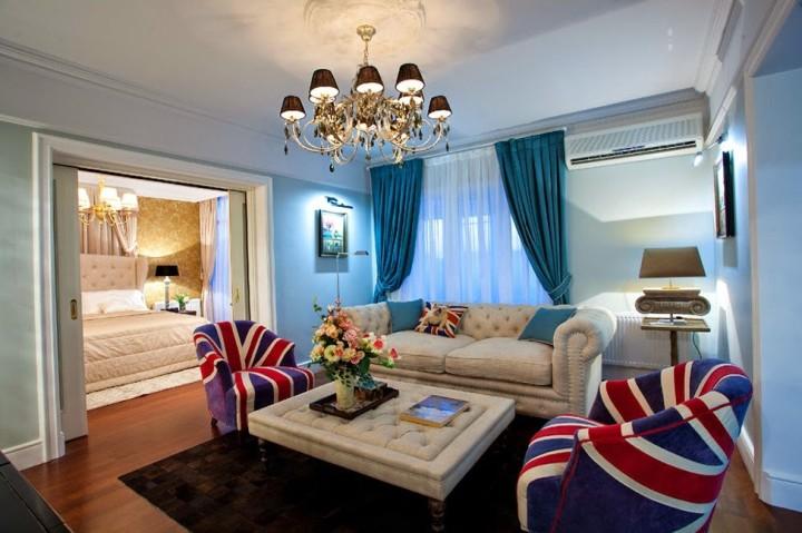 Дизайн зала в английском стиле