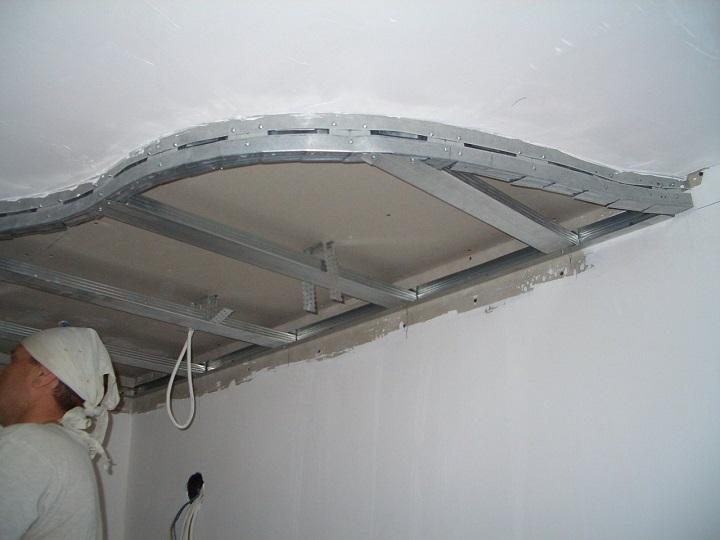 Монтаж уровневых потолков из профиля для гипсокартона