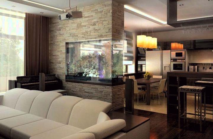 Перегородка кухня-гостиная дизайн фото