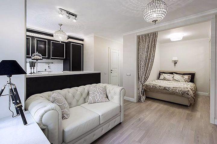 Дизайн однокомнатная квартира 35 кв м