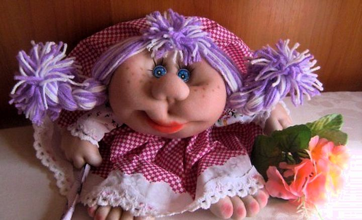Реалистичный вид кукол из колгот