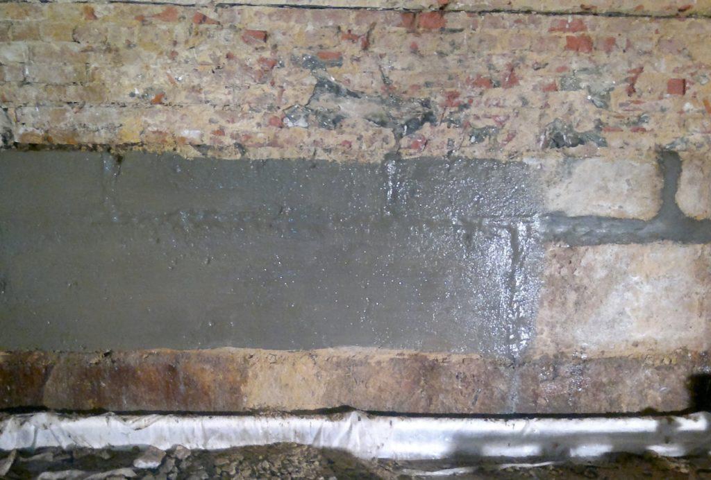 Кирпичная кладка стен подвала после гидроизоляции Пнетрон Скрепа 500