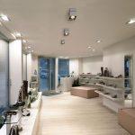 Фото 54: Точечные светильнике в прямоугольном исполнении для гипсокартонного потолка