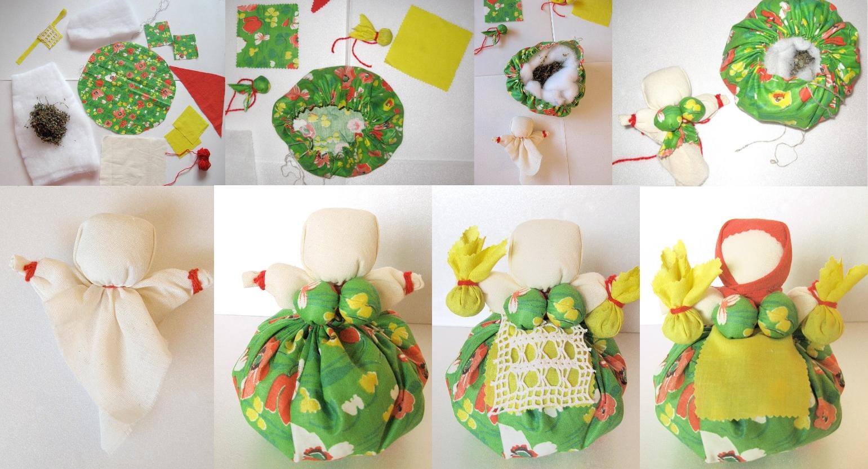 Изготовление куклы - травницы