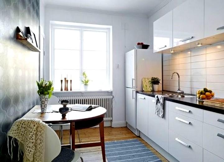 Пристенный кухонный стол 3