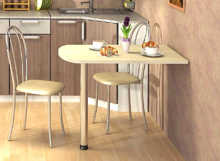 Пристенный кухонный стол