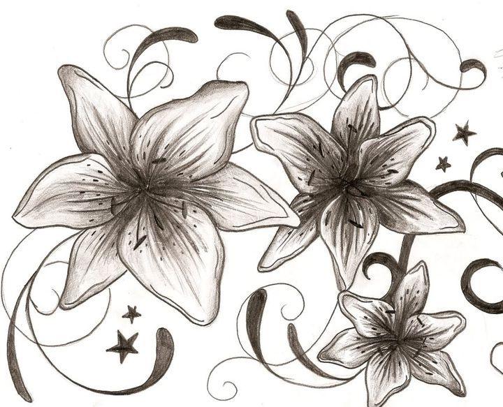 Изображение цветов, перенесенное на полотно
