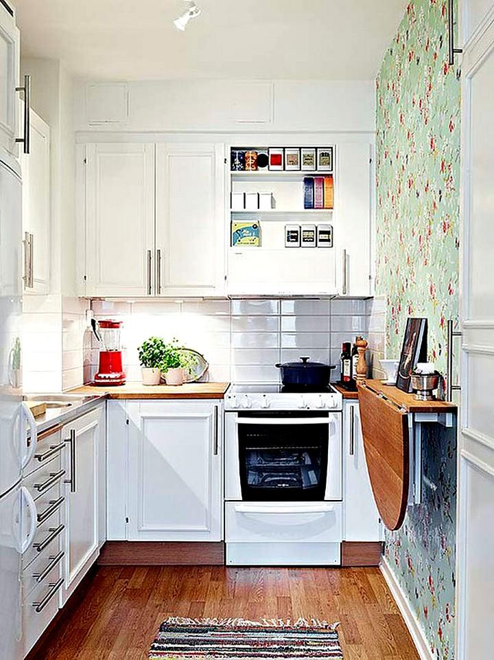 раскладной пристенный кухонный стол