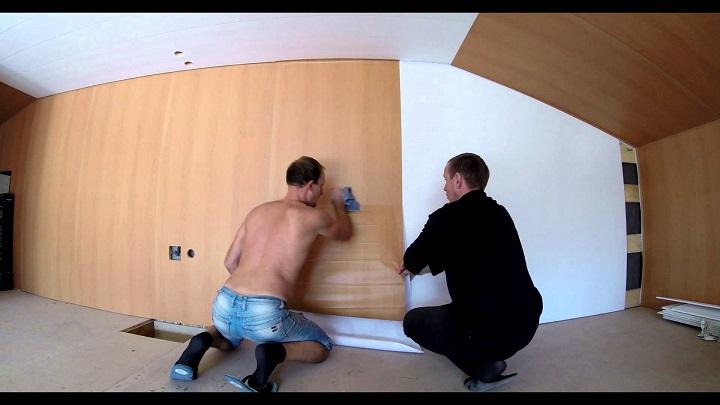 Оклеивание мебели самоклеящейся пленкой