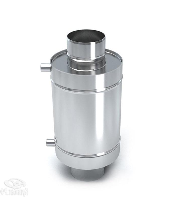 Теплообменник банной печи для установки на трубу дымохода