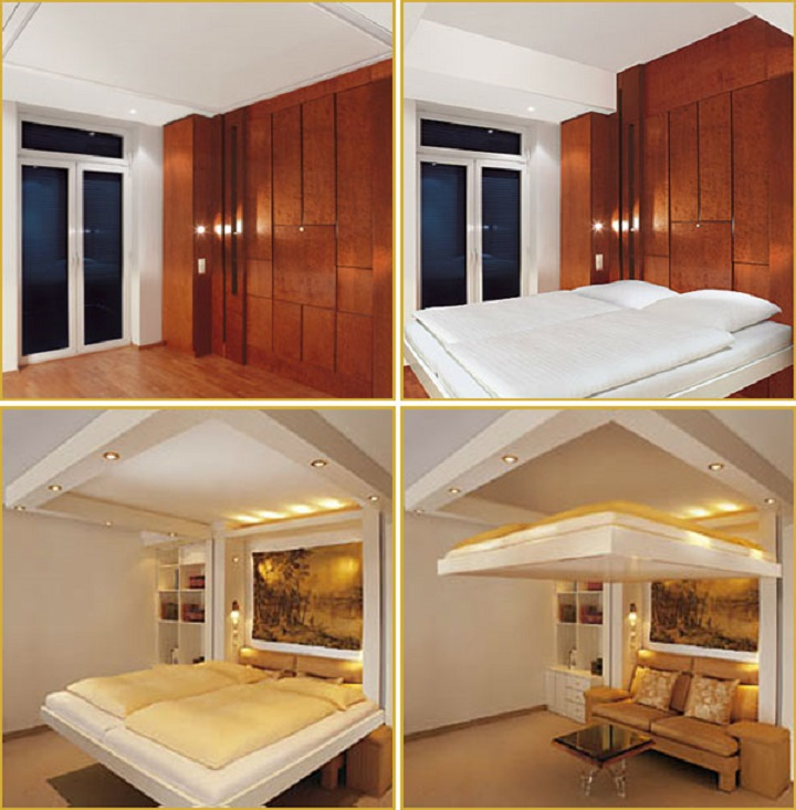 Шкаф-кровать трансформер подъемно-консольного типа