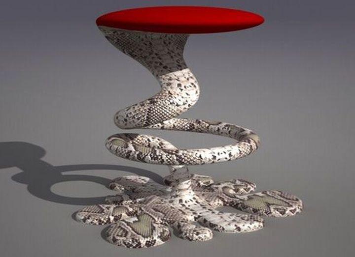Заманчивая форма барного стула