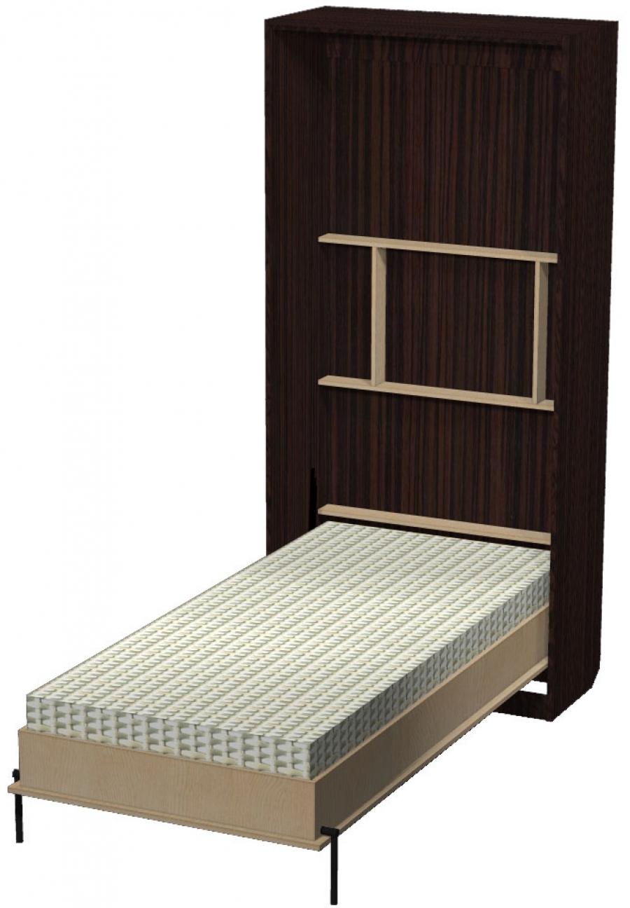 Односпальная отдельно стоящая кровать-шкаф