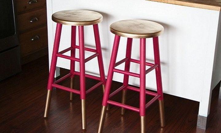 Самодельные барные стулья