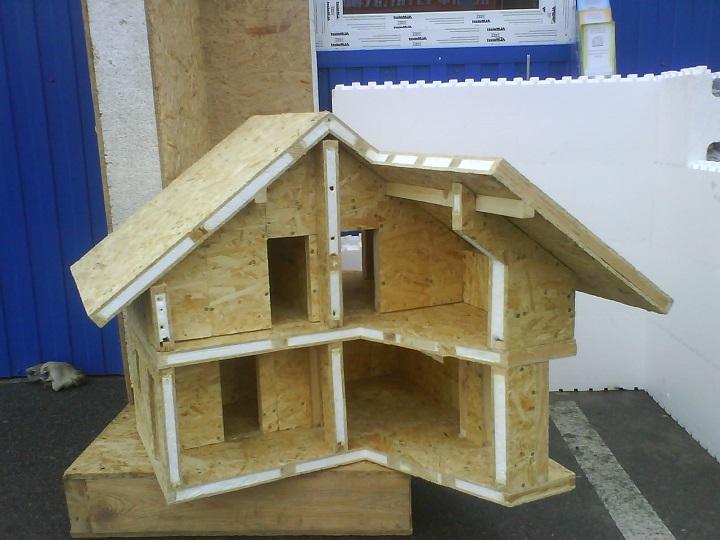 Макет дома из СИП панелей