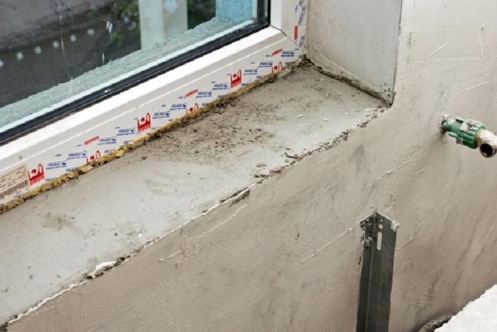 Подготовка поверхности перед установкой подоконника в окно ПВХ
