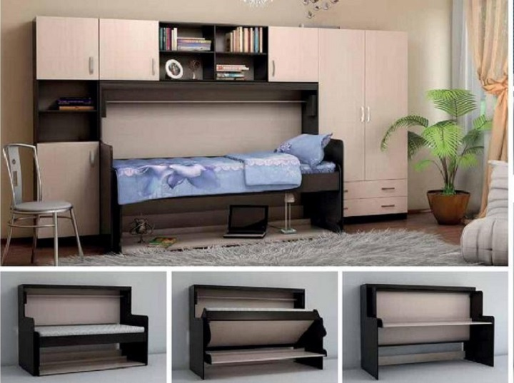 Шкаф-кровать-стол трансформер три в одном