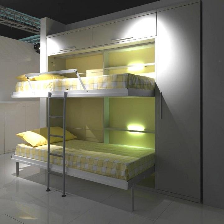 Двухъярусная шкаф кровать трансформер для детей