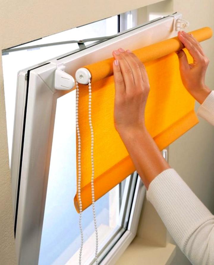 Жалюзи на окна рулонные установить